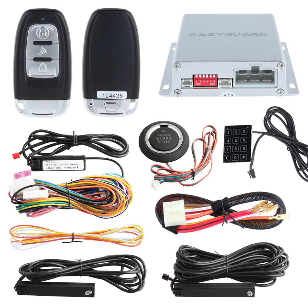 Hopping Code Intelligent Pke Car Alarm System With Remote
