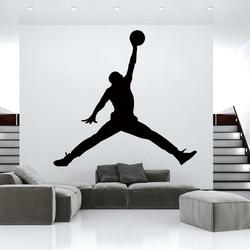 Hot Jordan basketball vinyl wall Sticker WallPaper For Kids Room bedroom Decor mural GYM room Decoration Accessories wallsticker