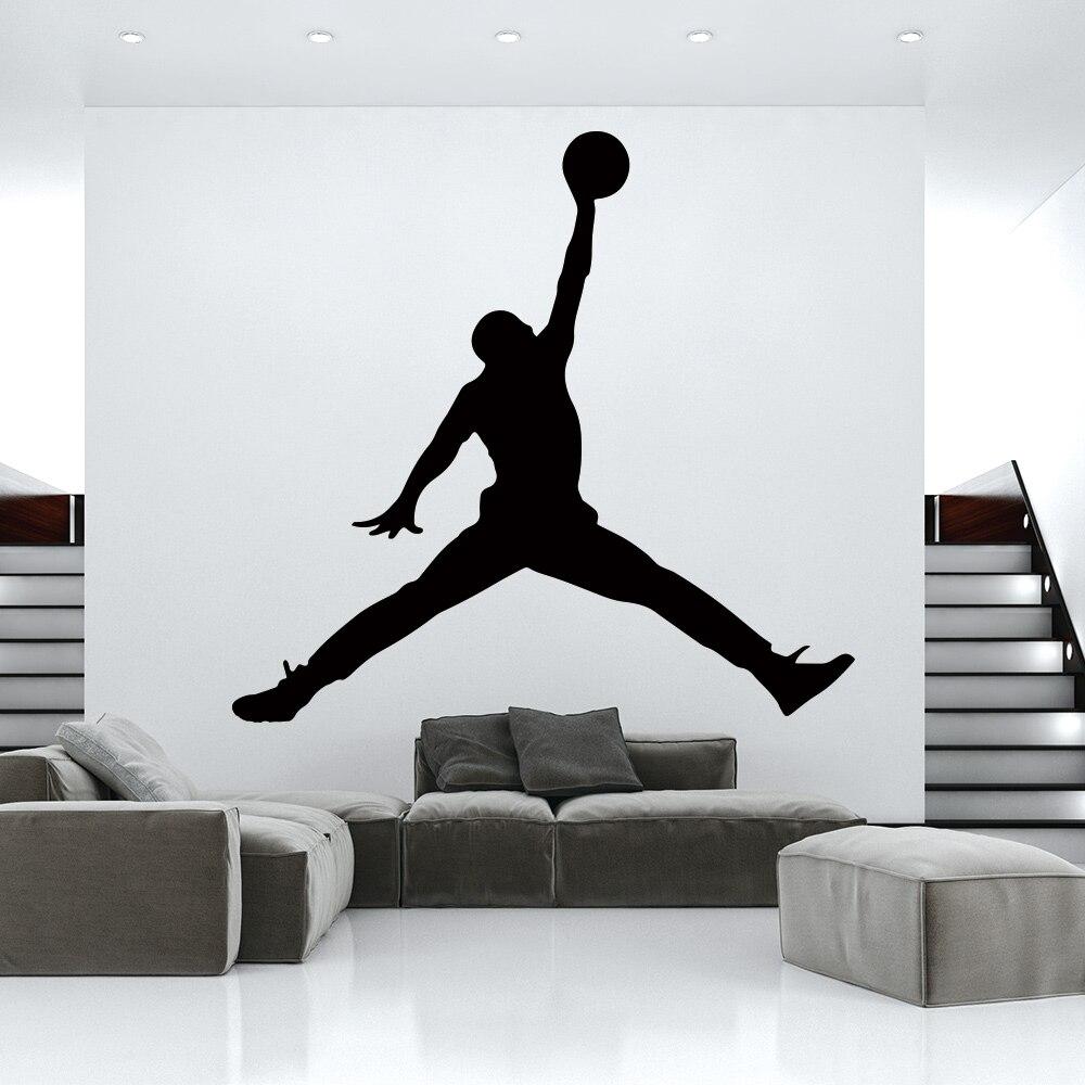 Hot Jordan Basketball Vinyl Wall Sticker WallPaper For