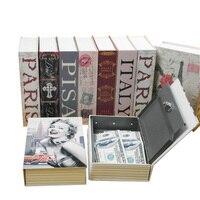 Lưu trữ An Toàn Hộp Từ Điển Ngân Hàng Sách Money Cash Đồ Trang Sức Hidden Bí Mật An Locker Với Key Khóa Nóng LXY9 DE17