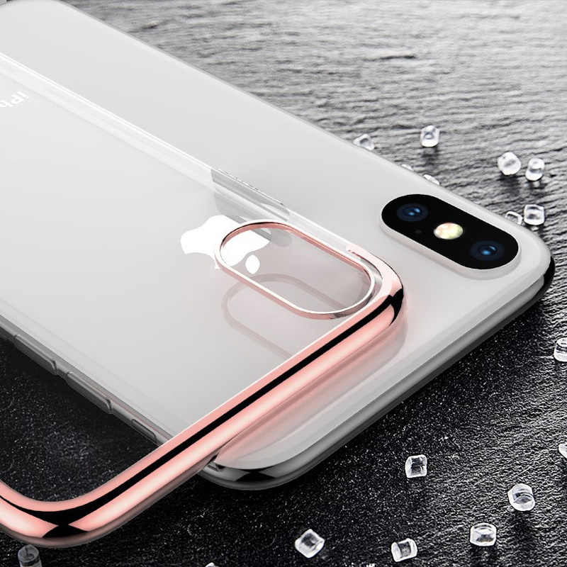 Plating shiningCell Telefoon Case voor iPhone 6 S 6 S 7 8 Plus X XS Max XR 6 Plus 6 SPlus 7 Plus 8 Plus ultra dunne Coque siliconen cover