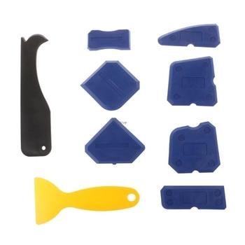 2e0833816 9 piezas de calafateo Kit de herramienta de sellador de silicona acabado  herramientas Juntas rascador masilla removedor de raspador de azulejo de  piso de ...