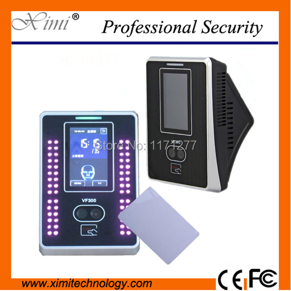 Free shipping VF300 touch screen time clock free sdk 13.56mhz mi-fare card reader TCP/IP  face card time attendance system