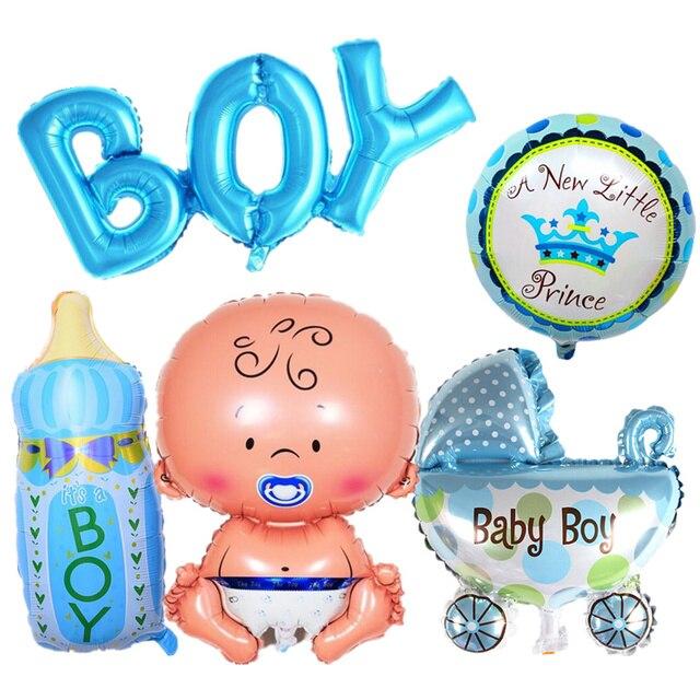 5 шт./компл. детская вечеринка в честь Дня Рождения Декор, его мальчик/девочка буквы фольги Воздушные шары DIY декоративные надувные воздушные шары