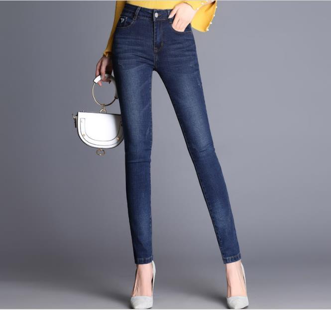 WYWAN Women's Jeans Trousers Jeans Women's Jeans Black Color Black Donna Stretch Bottoms Women's Pants Skinny Pants For Women