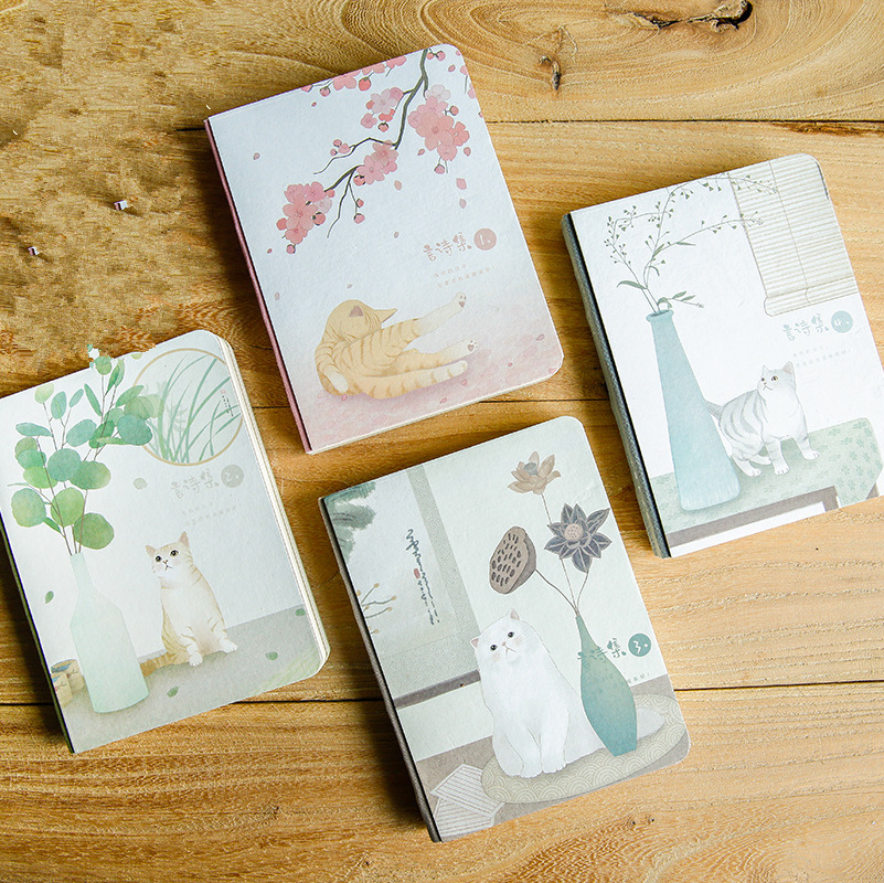 Japanese Cat ver.5 Cute Monthly Planner Agenda Study Notebook Pocket Diary Freenote Travel Journal Stationery Gift princess cat coil spiral cute notebook diary hand memo study journal notepad freenote stationery gift