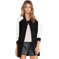 Raglan Jacket Women Long Autumn Cotton Plus Size Bomber Jackets Womens Fall Doudoune Femme Fashion Baseball