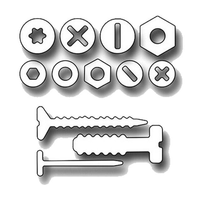 HamyHo Artesanato de Metal de Aço de Corte Morre Parafuso/Prego Ferramentas de Reparação set Quadro Para DIY Scrapbooking Papel/Cartões com fotos embossing Morre
