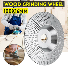100×16mm Circular Angle Grinder Saw Disc Wood Grinding Wheel Sharpening Carving Sanding Disc Power Tool Accessories
