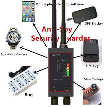 Micro inalámbrico Detector de señal Anti fotografiado Anti escuchas RF rastreador GPS de