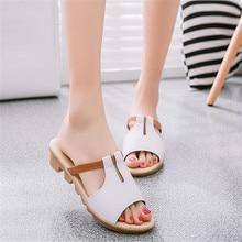 Summer casual flip flops Sandals Women Wedges shoes woman fashion Women Slippers breathable women sandalias mujer sandalen X364