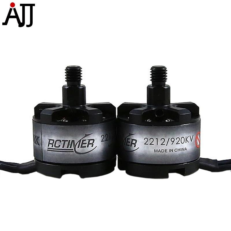2pcs/lot Rctimer 2212 920KV Brushless Motor CW CCW SL2212 12N14P compatible 3 6S Lipo/20A ESC RC Quad FPV Multi Rotor Motors