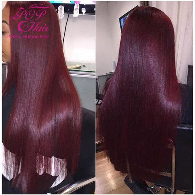 7a Burgundy Peruvian Straight Hair Bundles 3pcs Lot 99j