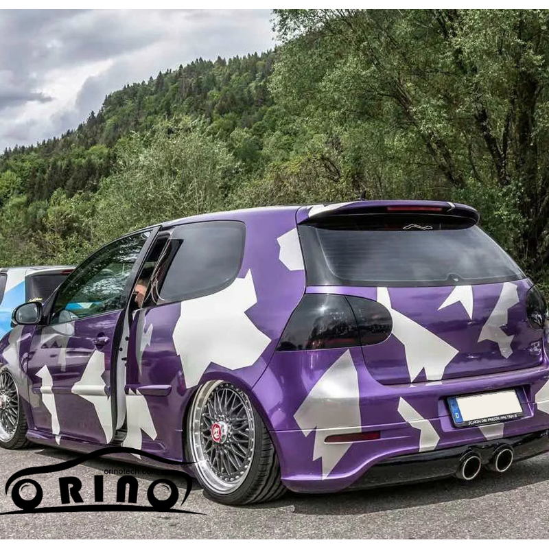 5e77909c04 Large Purple white vinyl film car wrapping film camouflage car styling vinyl  car wrap with air bubble free for vehicle wraps -in Car Stickers from ...