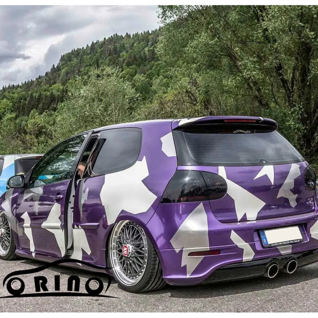 113d7b585c Large Purple white vinyl film car wrapping film camouflage car styling vinyl  car wrap with air bubble free for vehicle wraps