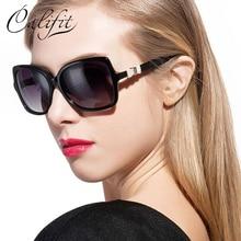 CALIFIT Glass Fashion Butterfly Polarized Sunglasses Women Shield