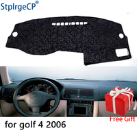 Latest Rose Pattern Non slip Car Dashboard Cover Dash Mat Pad DashMat ANti UV Car Sticker for Volkswagen Golf 4 2006 Car Styling