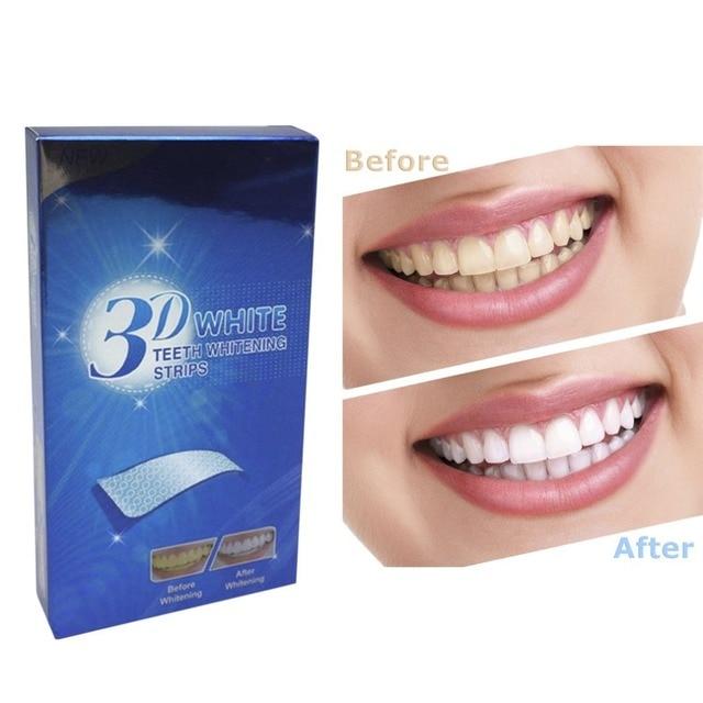 2018 nueva Natural no tóxico 3D blanco Gel dientes blanqueamiento tiras higiene bucal dientes blanqueamiento Dental herramientas