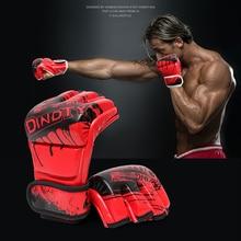 8b9ed0eba Branco vermelho dourado cores Meia Luvas de Boxe Combate Sanda Sandbag luvas  de MMA muay thai