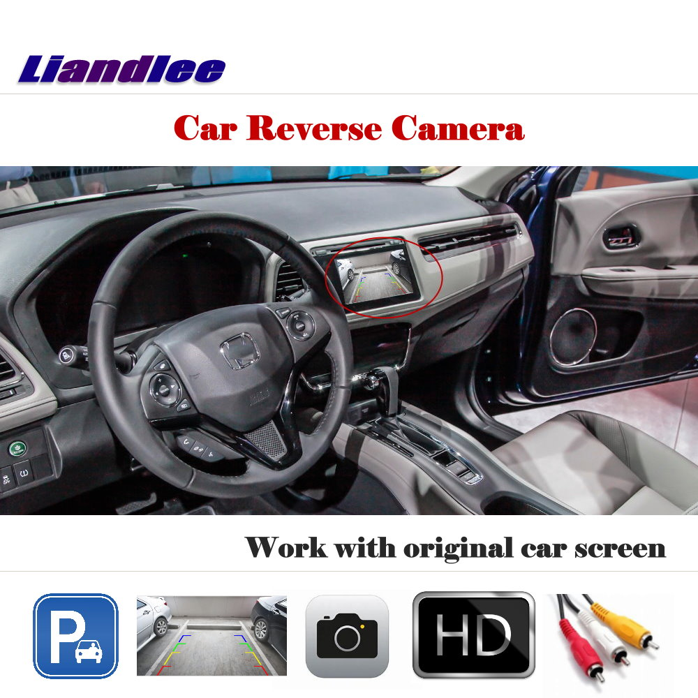 Liandlee For Honda HRV HR V Vezel 2013 2016 Auto Back Up Camera Rearview Reverse Parking Camera Work with Car Factory Screen in Vehicle Camera from Automobiles Motorcycles