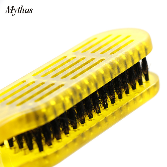 DIY Natural Boar Bristle V Hair Straightening Comb Antistatic Salon Hair Brush Comb For Hair Styling Tool Hairdressing Accessory