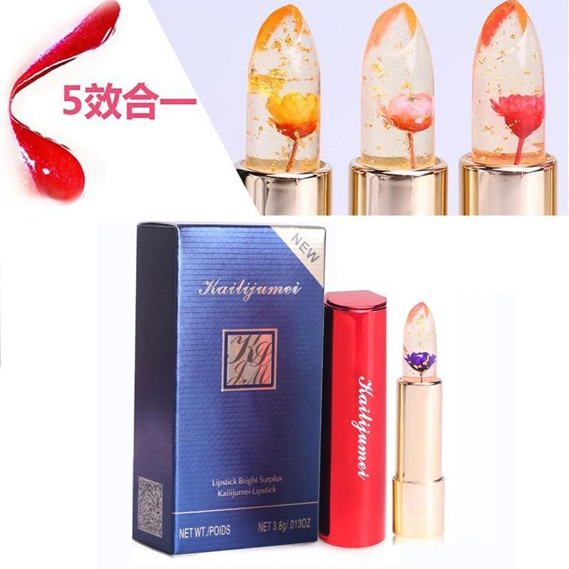 Kailijumei Jelly Lipstick Magic Color Temperature Change Moisturizer Bright Surplus Lip Gloss Beauty Flower Lipstick With