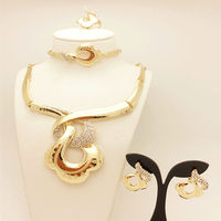 2015 European Style Fashion Set 18K Gold Jewelry India Fashion Bride Engagement Anniversary Jewelry