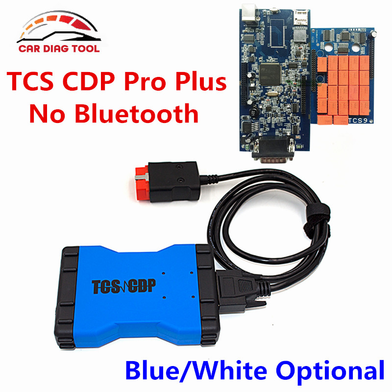Prix pour 2016 Top Qualité 2014. R3/R2 TCS CDP Pro Plus OBD2 Auto Outil De Diagnostic Avec LED Multi-langue TCS Scanner Bleu/Blanc En Option