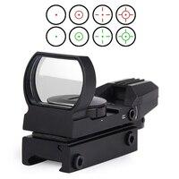 New Rail Riflescope Hunting Airsoft Optics Scope Holographic Red Dot Sight Reflex 4 Reticle Tactical Gun