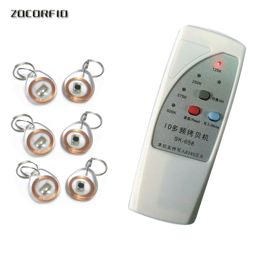 Free shipping  4 frequency  EM4100 RFID Copier/ Duplicator/ Cloner ID EM reader & writer+ 10pcs T5557 crystal keyfob