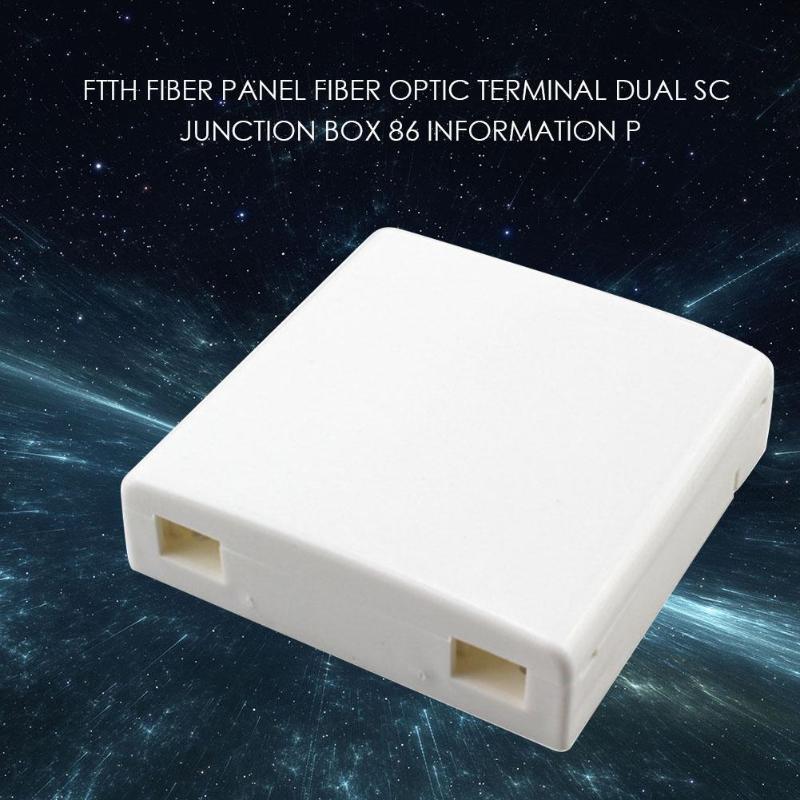 Junction Box Wall Mount 2 Cores Terminal Panel Fiber Optic Termination Box