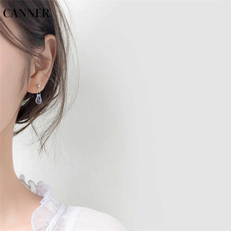 Eindoser 925 Sterling Silber Ohrringe Wasser Tropfen Form Blau Opal Natürliche Stein Ohrringe Für Frauen Schmuck Geschenk