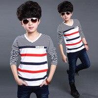 High Quality Boys T Shirts Long Sleeve Children Stripe Pattern Baby Boys Tops Brand New Fashion