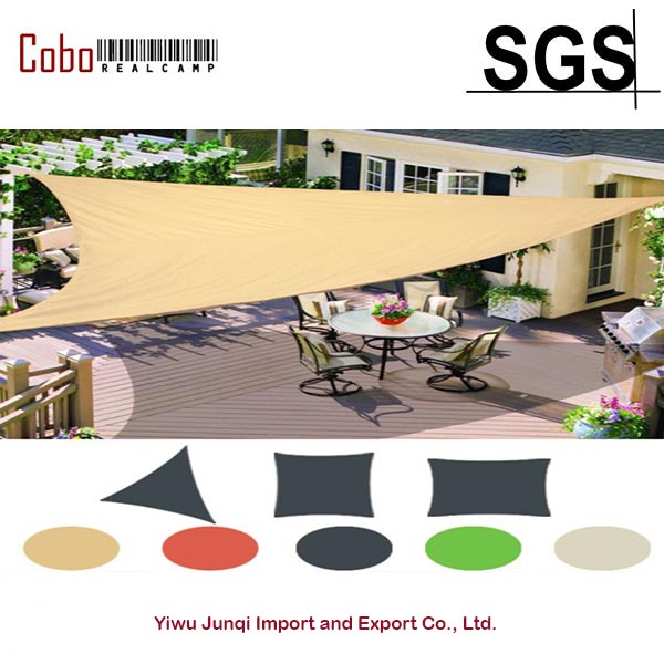 Exceptional Multi Sizes Sun Shade Sail Fabric Outdoor Garden Canopy Patio Pool Awning  Cover Sunscreen 98% UV Block 3 Shape New