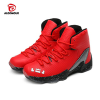 ALDOMOUR Kids Basketball Shoes Boys Girls Sneakers Shockproof Running Walking Shoes Outdoor Indoor Basketball Training Shoes