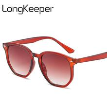 LongKeeper Womens Polygon Sunglasses Brand Design Fashion Irregular Sun Glasses Gradient Shade For Female UV400 Oculos