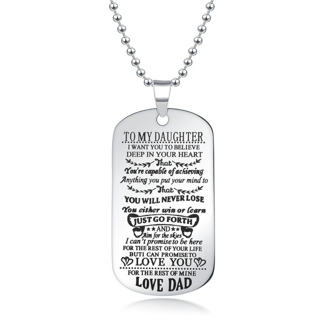 To My Son Daughter I Want You To Believe Love Dad Mom Pendant Family Necklace Jewelry 2