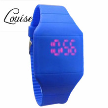 Louise Children's Classical LED Fashion Colorful Fashion The Jelly Ultra-Thin Silicone Sport Wrist Watch Freeshipping&Wholesale