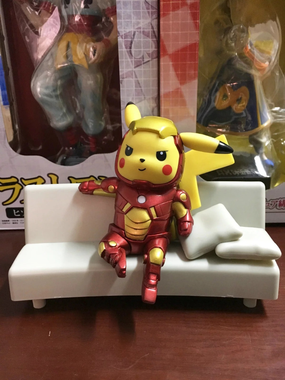 13CM Cartoon Pikachu pocket cosplay iron Man Anime Action Figure PVC toys Collection figures Collection for kids gifts anime cartoon doraemon cosplay iron man captain america pvc action figure collectible toy