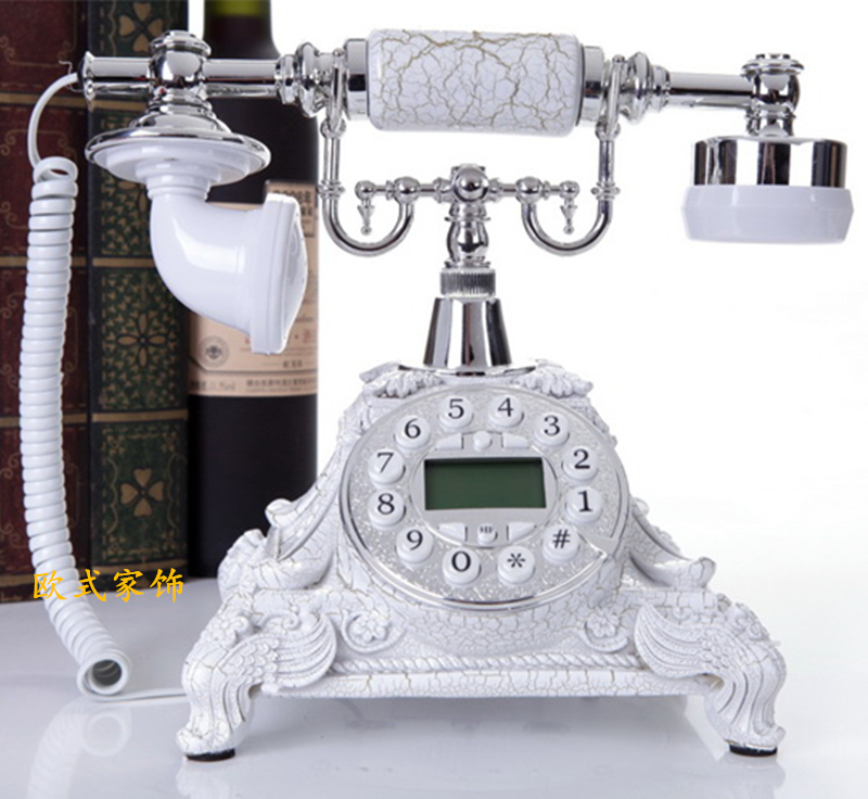European Fashion genuine antique telephone telephone caller crack retro pastoral fixed corded phone ringing tones