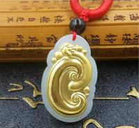 2018 High Quality Natural stone Hetian Jades Wishful Pendant Necklace Lucky Amulet Pendant for Men Women Best Gift
