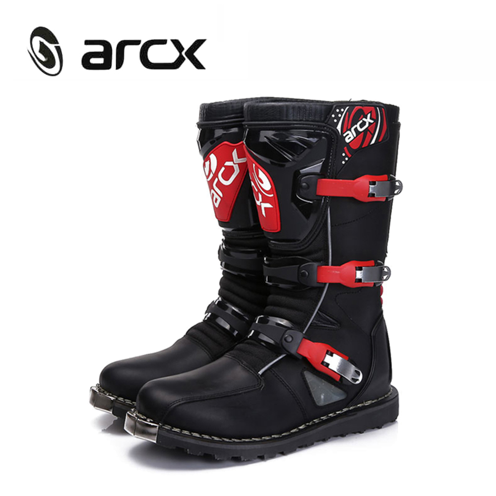 ARCX Motorcycle Boots Off-road Racing Shoes Moto Boots Motocross Boots Men Street Moto Touring Riding Motorcycle Shoes L60582 motorcycle riding shoes men s waterproof spring anti falling knights boots cross country racing shoes road locomotive boots