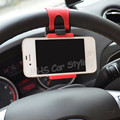 Car Styling Universal Car Steering Wheel Mount Holder Rubber Band For iPhone iPod MP4 GPS Mobile Phone Holders3.2-5.0 inch