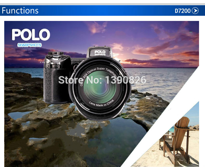 D7200 caméra vidéo numérique 33 millions de pixels caméra numérique professionnelle 24X caméra zoom optique plus lampe frontale à LED gratuit - 6