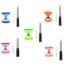 Professional 1-Bearing 5-inch Chinese Yoyo Diabolo Toy with Aluminum Sticks(China)