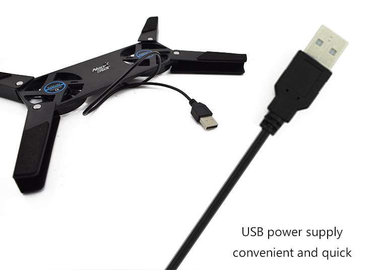 قاعدة مع مراوح USB مبرد للحاسوب المحمول 10