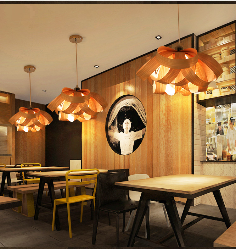 Wood veneer hanging lamp southeastern pendant lights fixture home wood veneer hanging lamp southeastern pendant lights fixture home indoor lighting cafes shop pub bar restaurant wood droplights in pendant lights from mozeypictures Choice Image