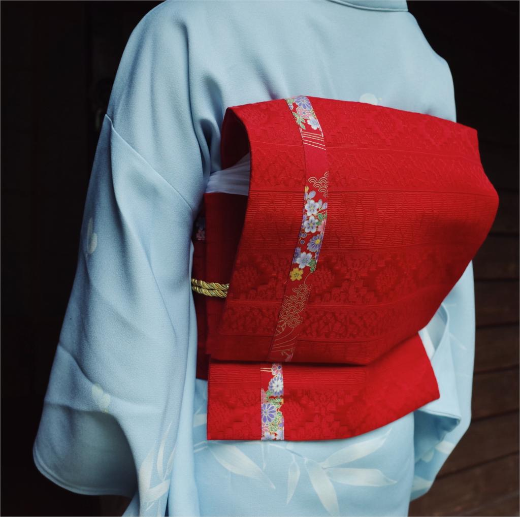 2019 Kimono Accessories Red Belt Floral Print Waist Belt