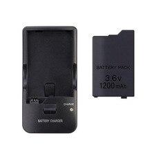 3.6 v 1200 mah Substituição da Bateria Recarregável Power Pack + Desktop Dock Carregador Para Sony PlayStation PSP 2000 3000 Jogo console