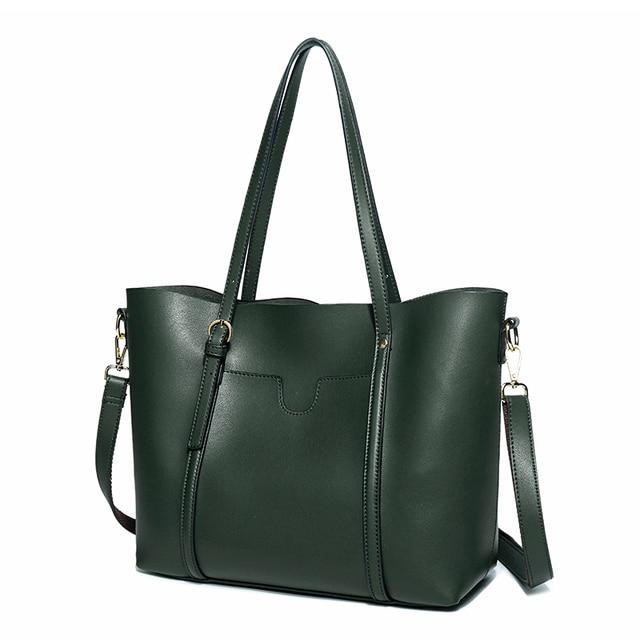 Simple And Beautiful Genuine Leather Duffle Bag New Belt Decoration Women Handbags Fashion Wild Spring